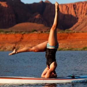 paddle boards in ivins reservoir
