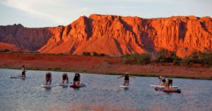 paddle boarding yoga in st george